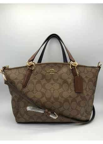 adb18be3d COACH SMALL KELSEY SATCHEL IN SIGNATURE CANVAS (F28989) - SADDLE2 ...