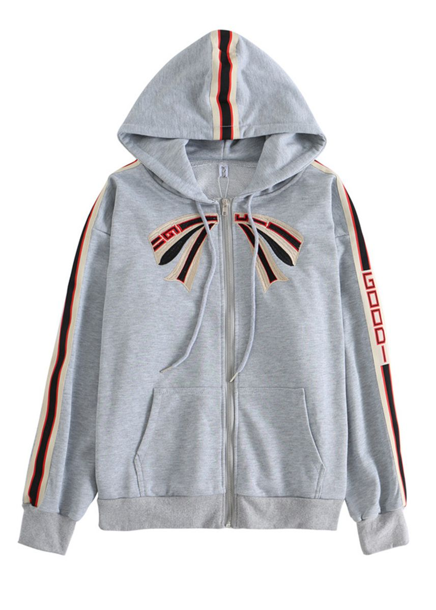 Grey color Jackets . Lady Fashion Ins Hot Style Student Loose Hoodie -