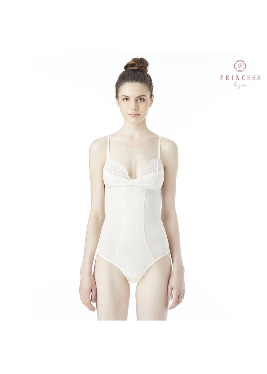 ขาว color เสื้อชั้นใน . Princess Lingerie PLEATED LOVE BODY SUIT OFF WHITE -