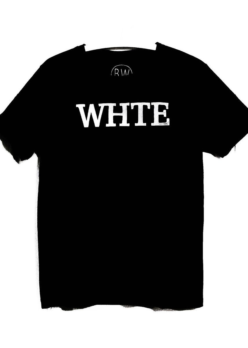 Black color  . Whte Classic Tee -