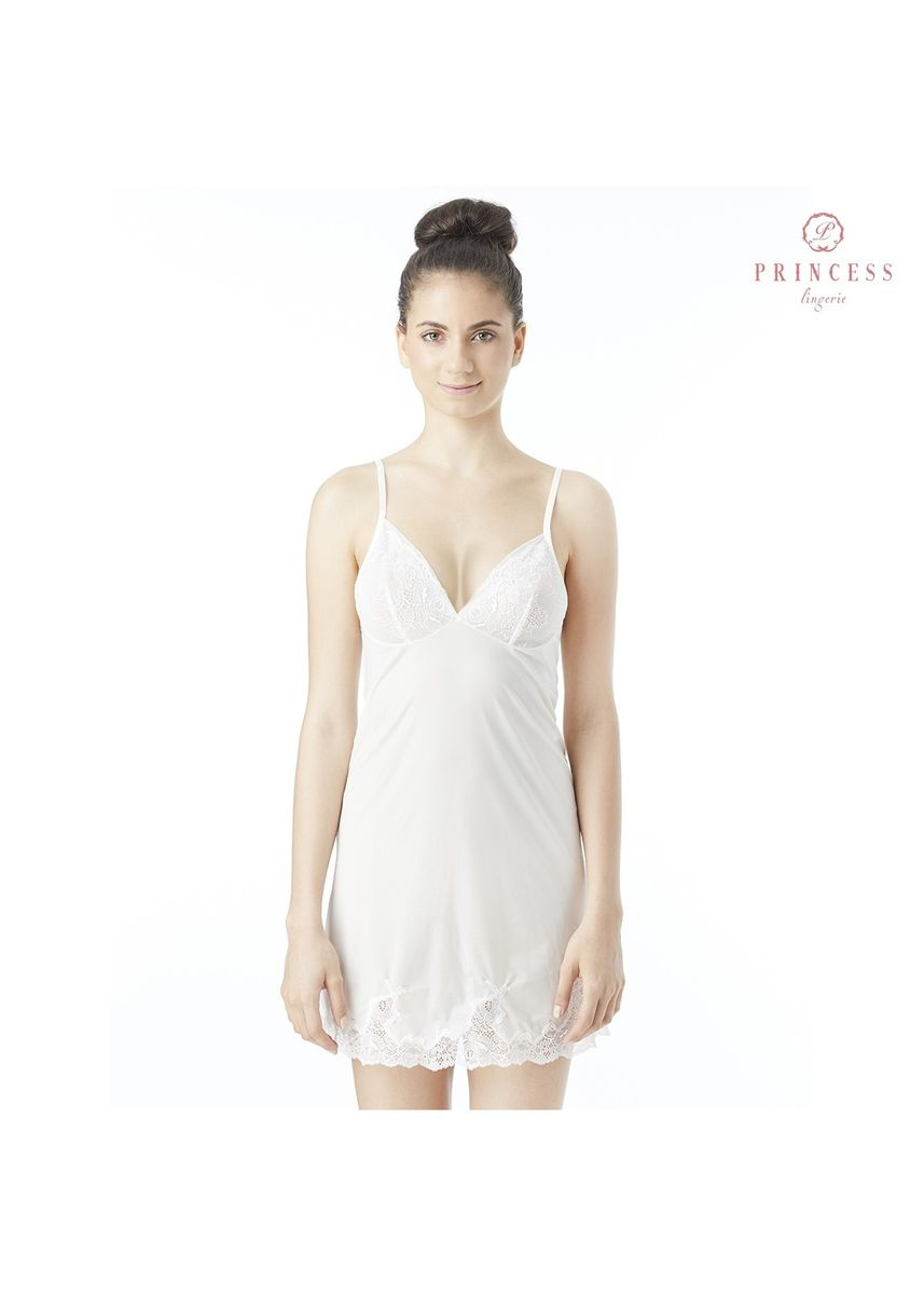 ขาว color ชุดนอน . Princess Lingerie CHALOTTE SEXY LACE-INSET MINI SLIP OFF WHITE -