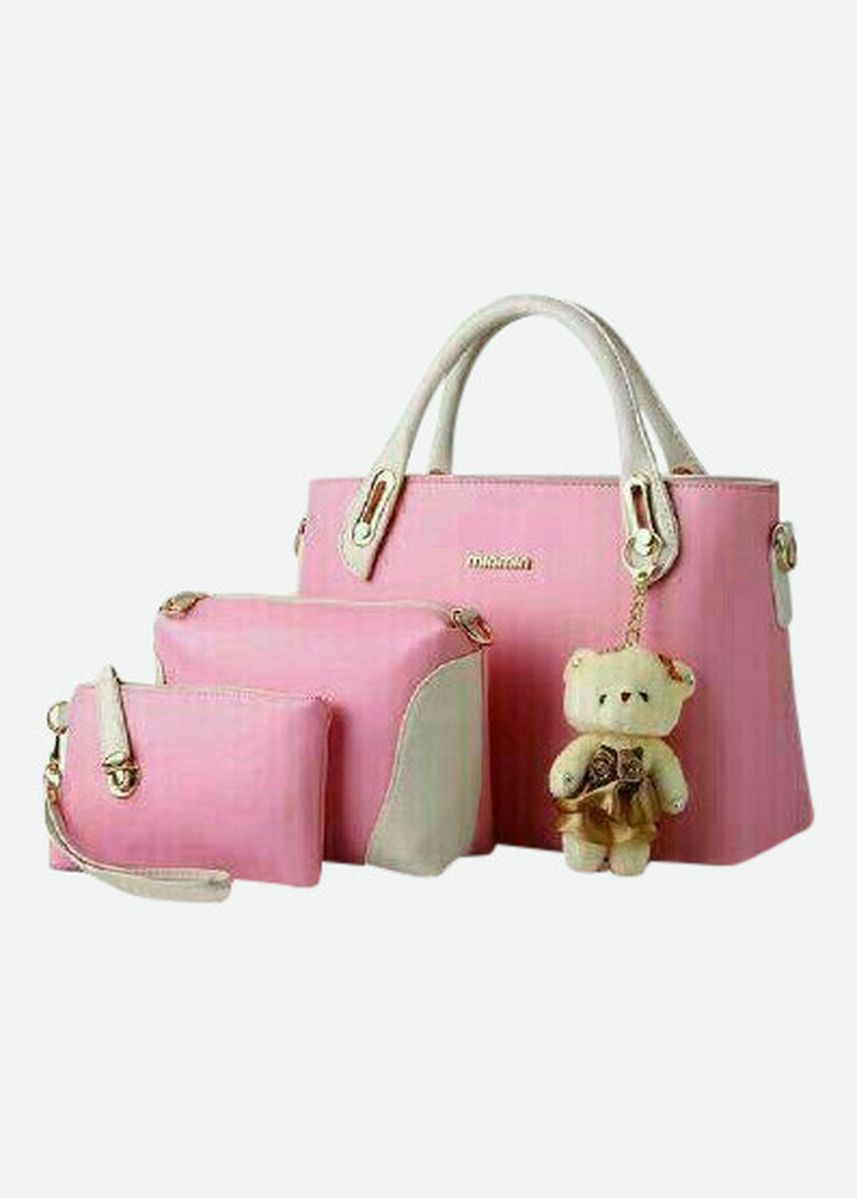 Pink color Hand Bags . Starla 3 in 1 -