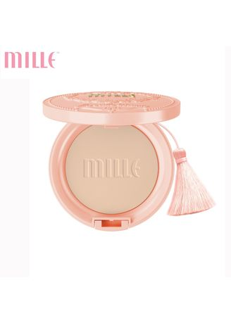 No Color color Face . Mille แป้งสเนลคอลลาเจน Snail Collagen Pact SPF25 PA++ 11g #02 Natural -