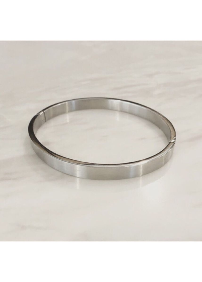 Silver color  . Silver Plain Bangle แบบหนา -