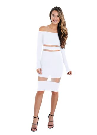 Dresses . Sexy Solid Tube Dress -