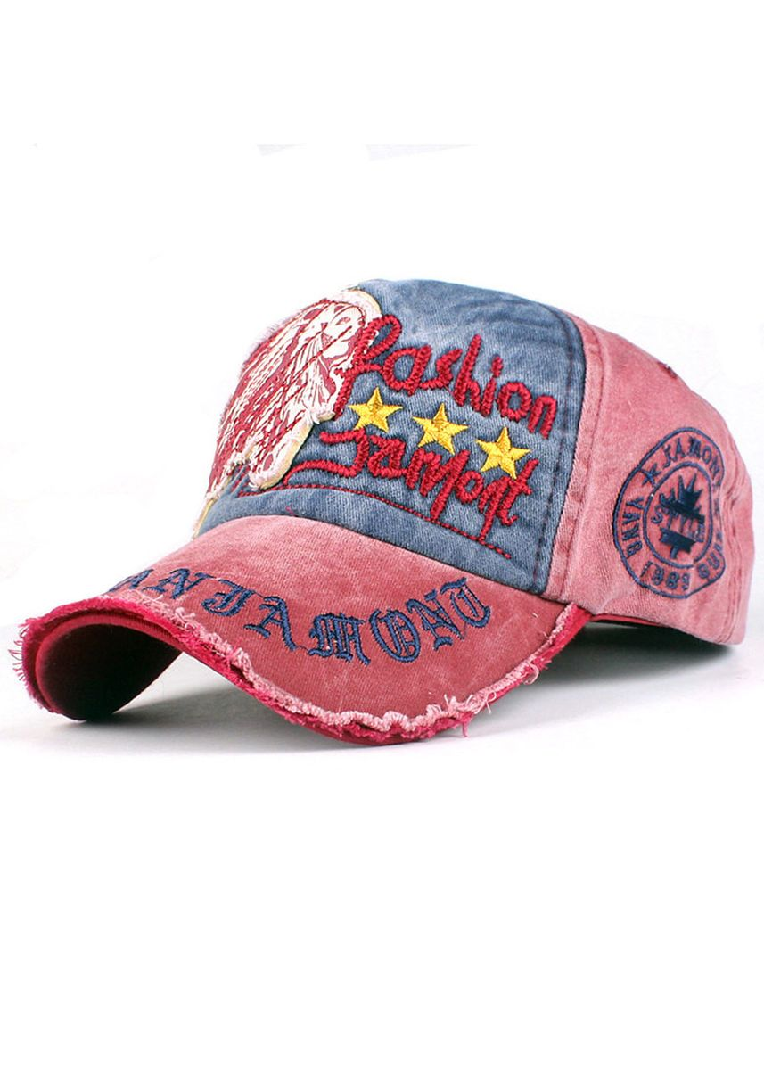 Red color Hats . Outdoor Embroidery Leisure Letters Baseball Cap -