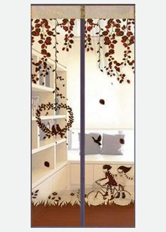 Brown color Home Decor . Allunique Tirai Magnet Love Bird -