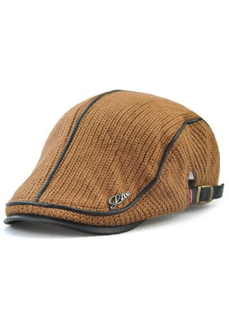 Brown color Hats and Caps . British Style Leisure Thick Warm Beret -