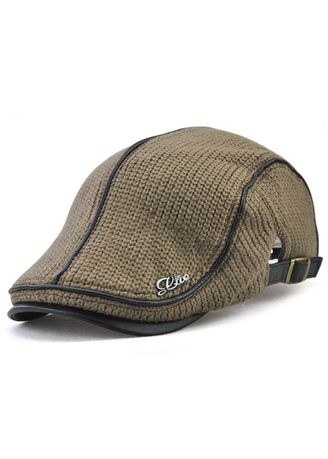 Khaki color Hats and Caps . British Style Leisure Thick Warm Beret -