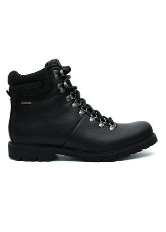 Hitam color Sepatu Boot . GINO MARIANI WYNE Authentic Leather WaterProof Men's Shoes Black -