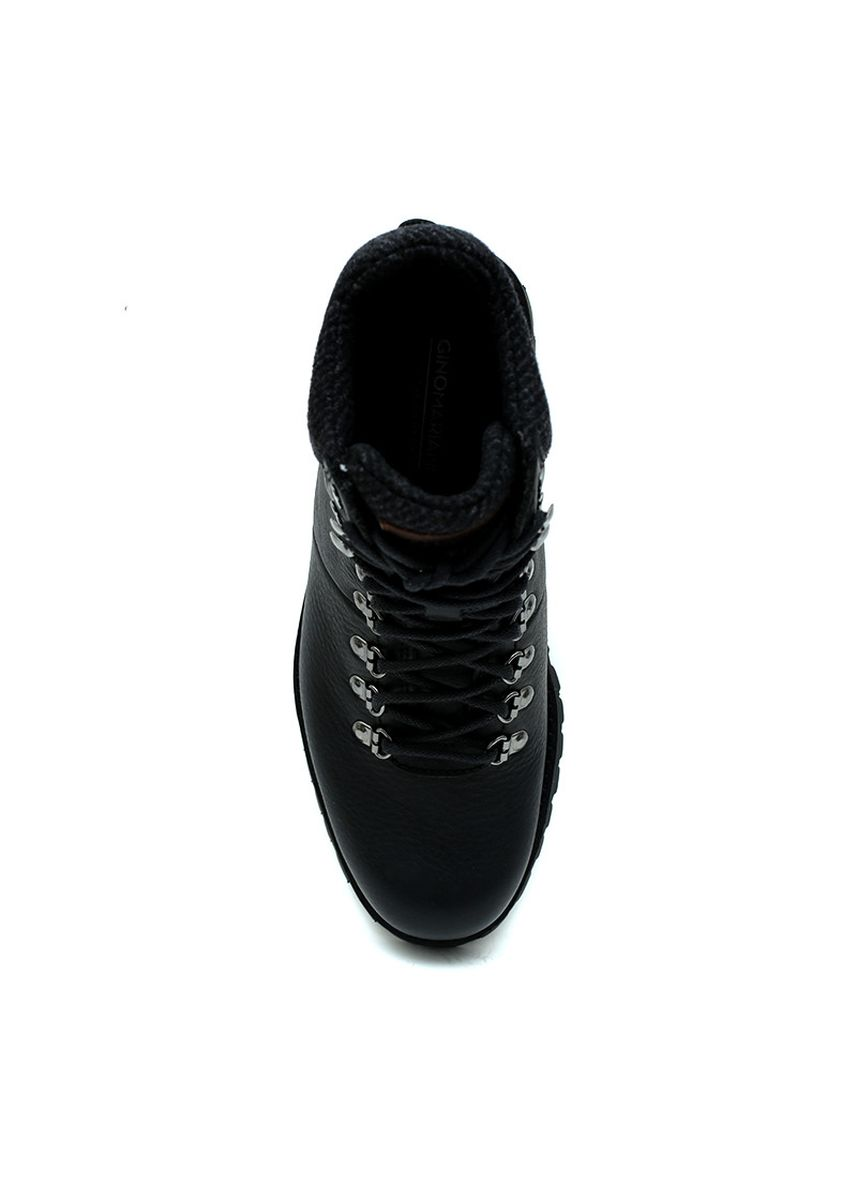 Black color Boots . GINO MARIANI WYNE Authentic Leather WaterProof Men's Shoes Black -