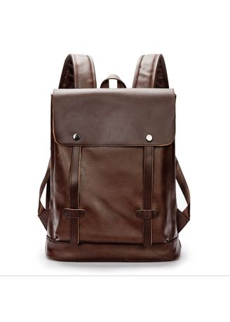 Brown color Backpacks . Men's backpack Korean version of the tide bag retro backpack -