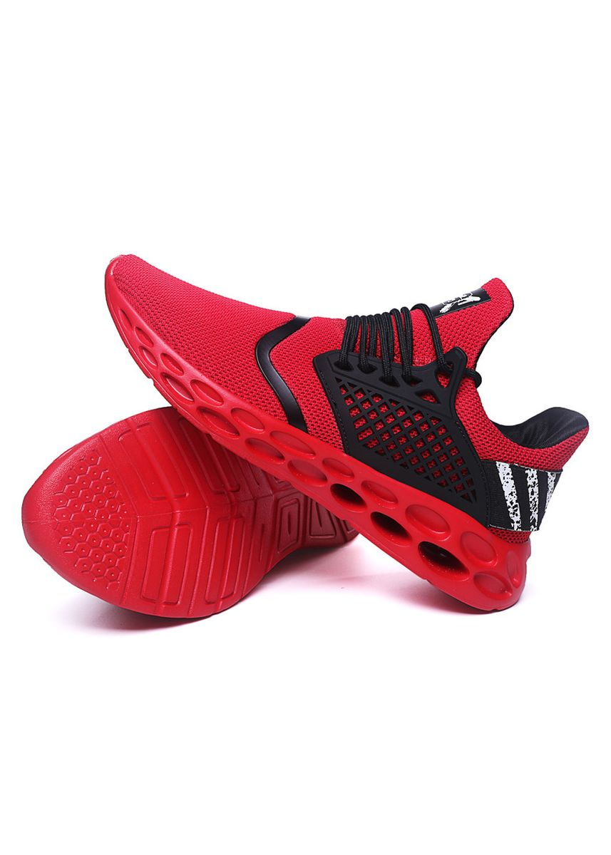 Red color Sports Shoes . Lightweight Running Shoes Men Breathable -