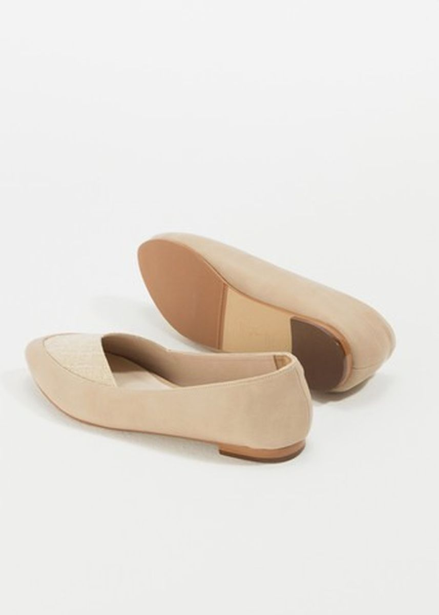 Beige color Sandals and Slippers . รองเท้าส้นแบน Myra c1 -
