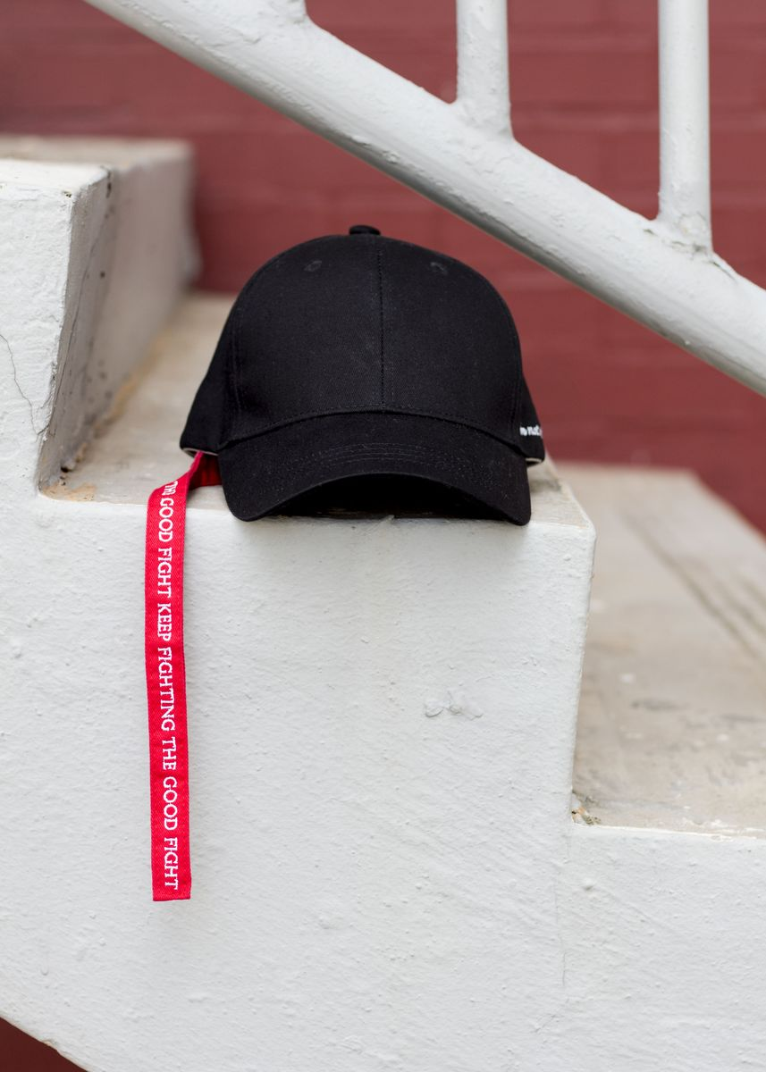 Black color Hats . Keep Fighting the Good Fight -