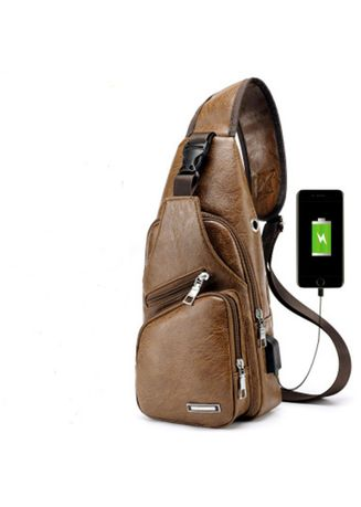 Men/'s Fashion Shoulder Bag Adjustable Casual Chest Bag Sling Waterproof Backpack