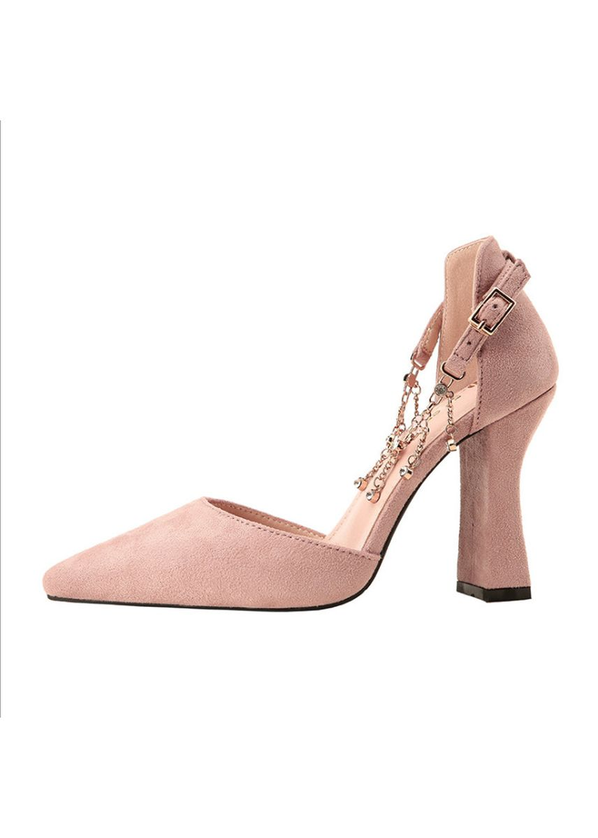 Pink color Heels . Women's Fashion Trend Thin Heels -