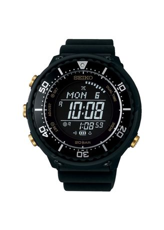 Black color Digital . Seiko Prospex Fieldmaster Lowercase Digital Tuna SBEP005 -