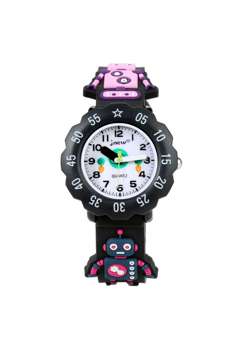 Black color Analog . Children's cartoon watch girl boy silicone jelly watch personality watch -
