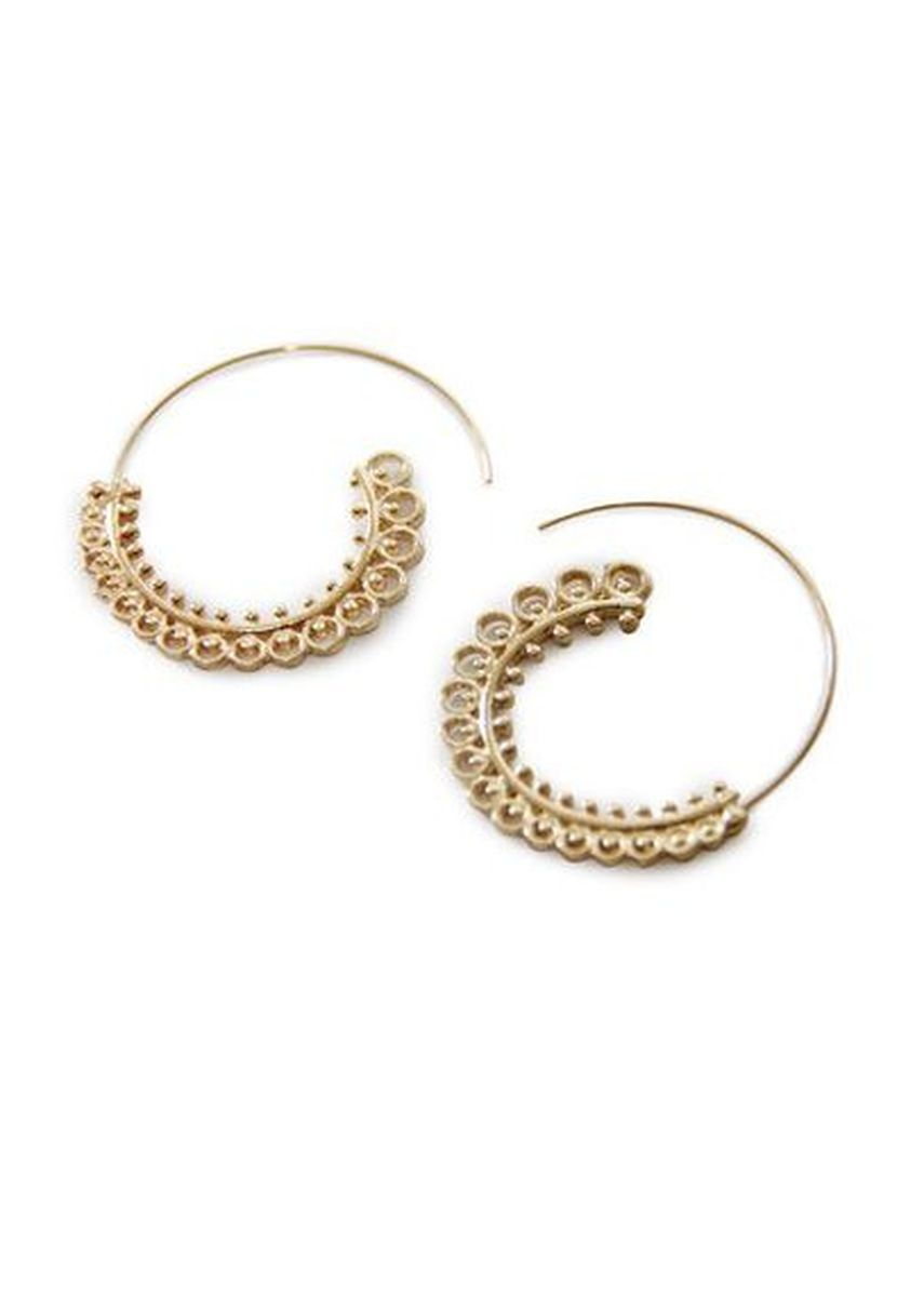 Gold color  . Turi Earrings 12391 Gold -