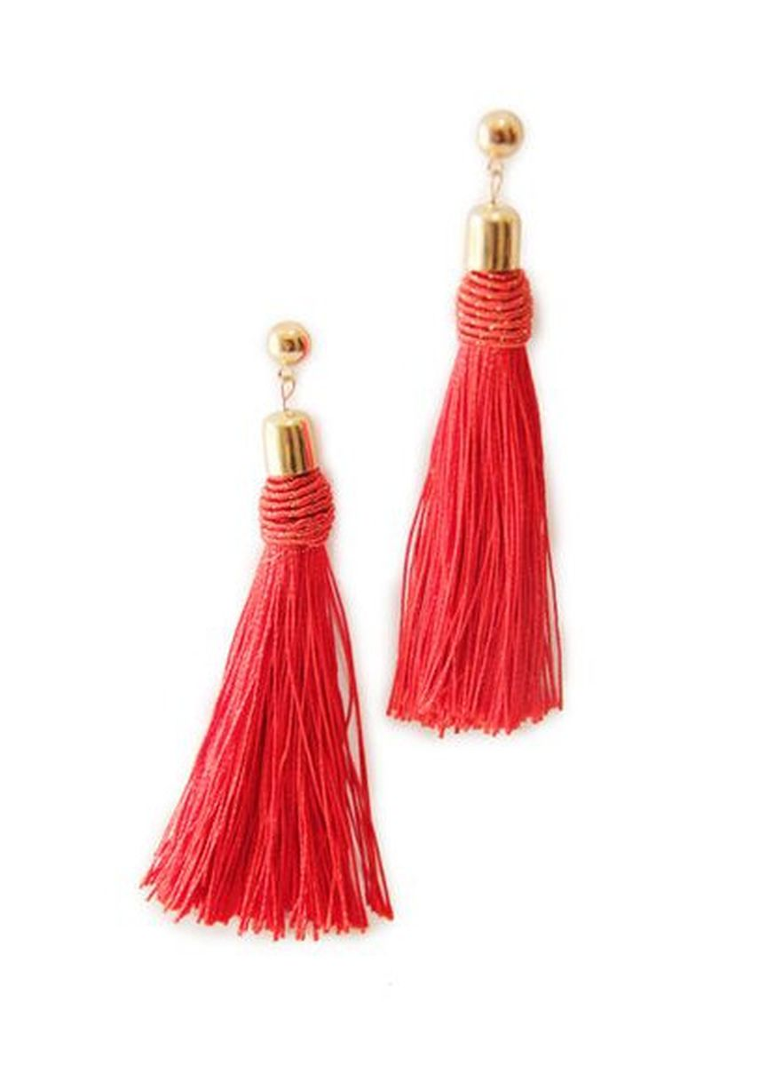 Red color  . Turi Earrings E6107 red -