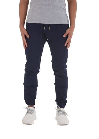 Navy color Casual Trousers and Chinos . Capsule Jogger Pants - Navy Blue -