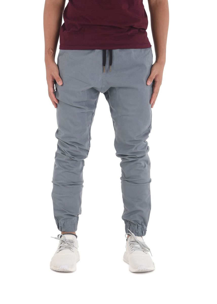Blue color Casual Trousers and Chinos . Capsule Jogger Pants - Sky Blue -