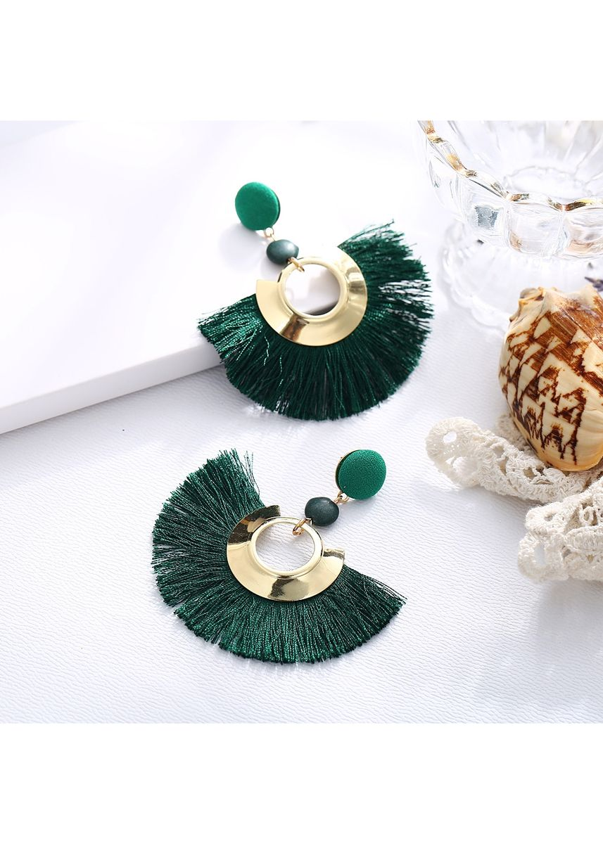 เขียว color  . MISSYJO New Luxury Vintage Bohemian Design Earrings -