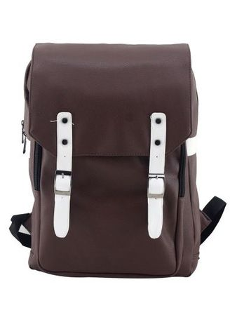 a06b505d40e5 Travel Manila PU Leather Backpack (Brown)