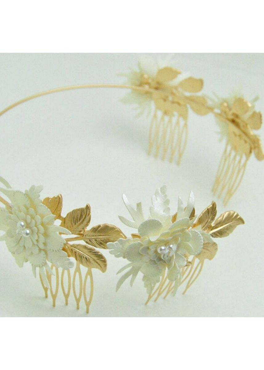 ทอง color เครื่องประดับผม . MISSYJO New Design Runway Style Charming Bouquet Hairband -