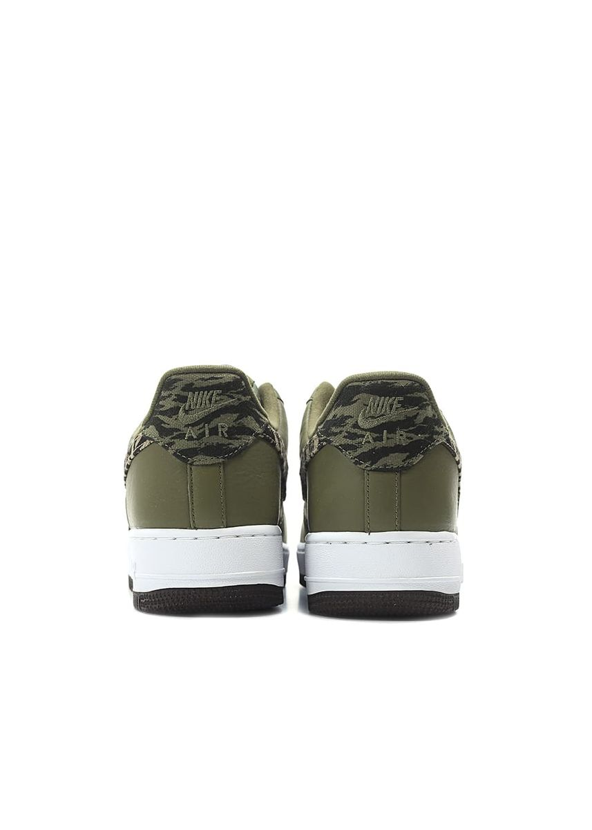 Olive color Casual Shoes . Nike Air Force 1 Low Premium Olive Tiger Camo -
