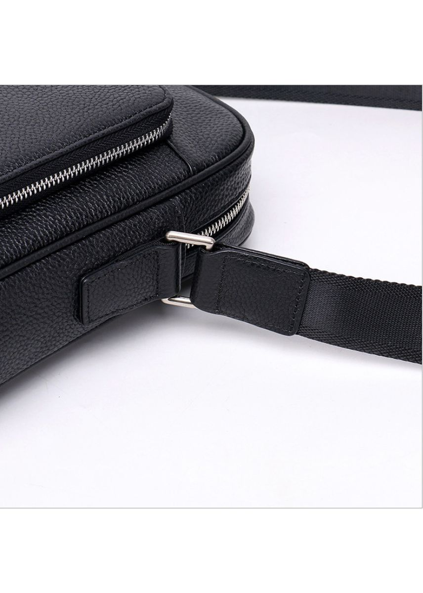 Black color Messenger Bags . Shoulder bag men's business casual Messenger bag -