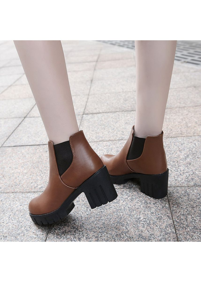 Brown color Boots . Ms. British Wind Chelsea Martin Boots -