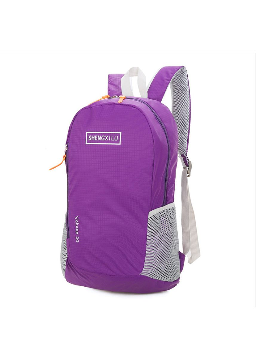 Violet color Backpacks . New Ladies Sports Outdoor Leisure Mountaineering Folding Travel Defense -