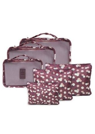 9ebea0902baa Travel Manila 6 in 1 Packing Floral Maroon Bags