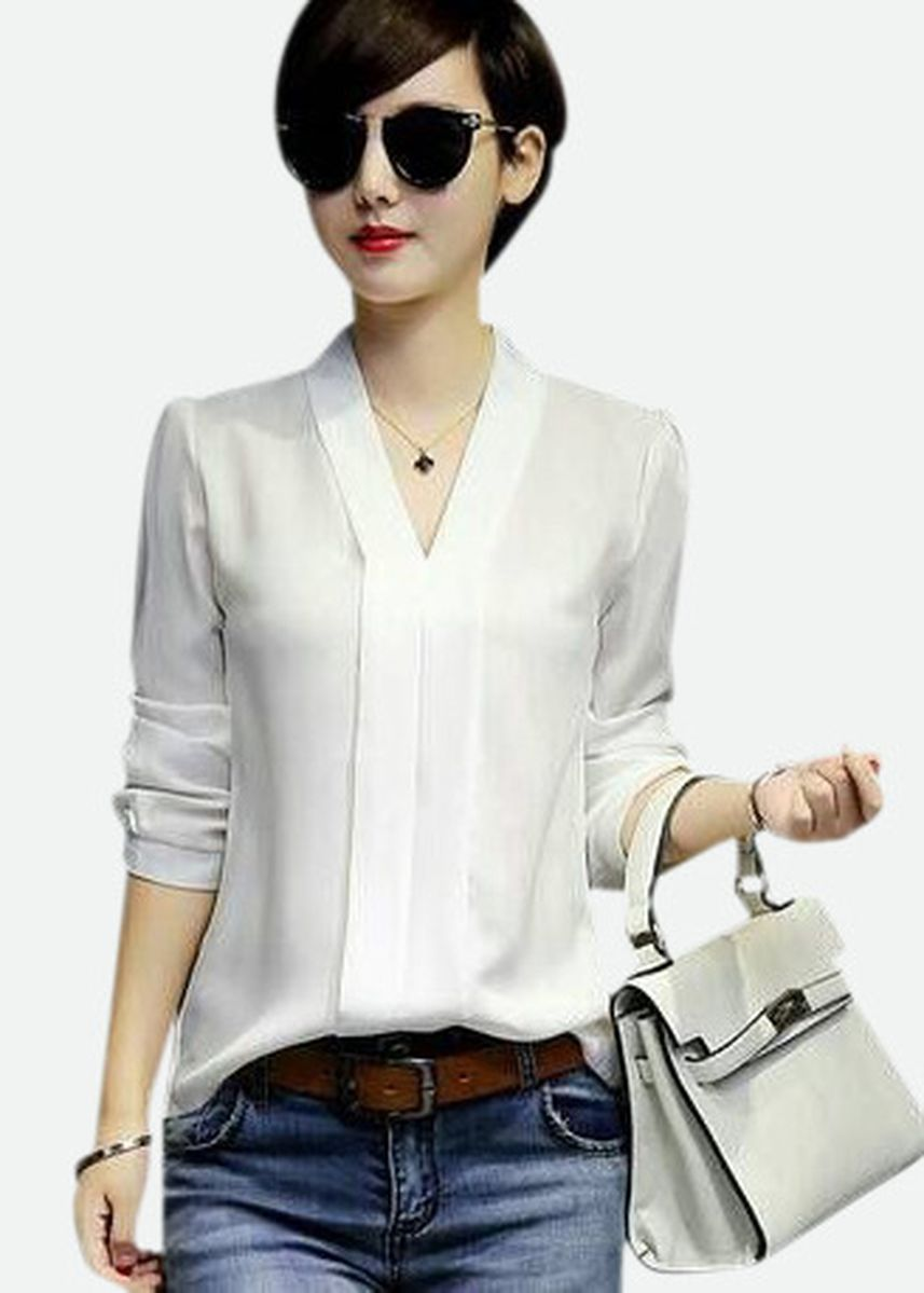 White color Tees & Shirts . BTS Zuky Blouse -