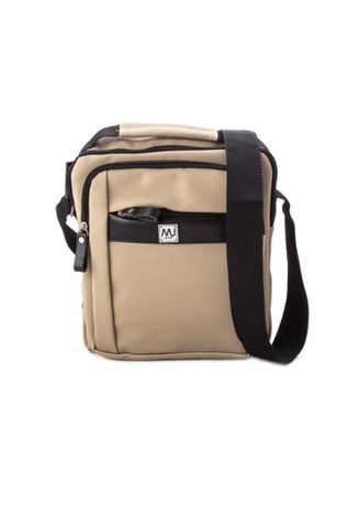 Beige color Messenger Bags . McJim Leather Body Bag With Internal Pockets -