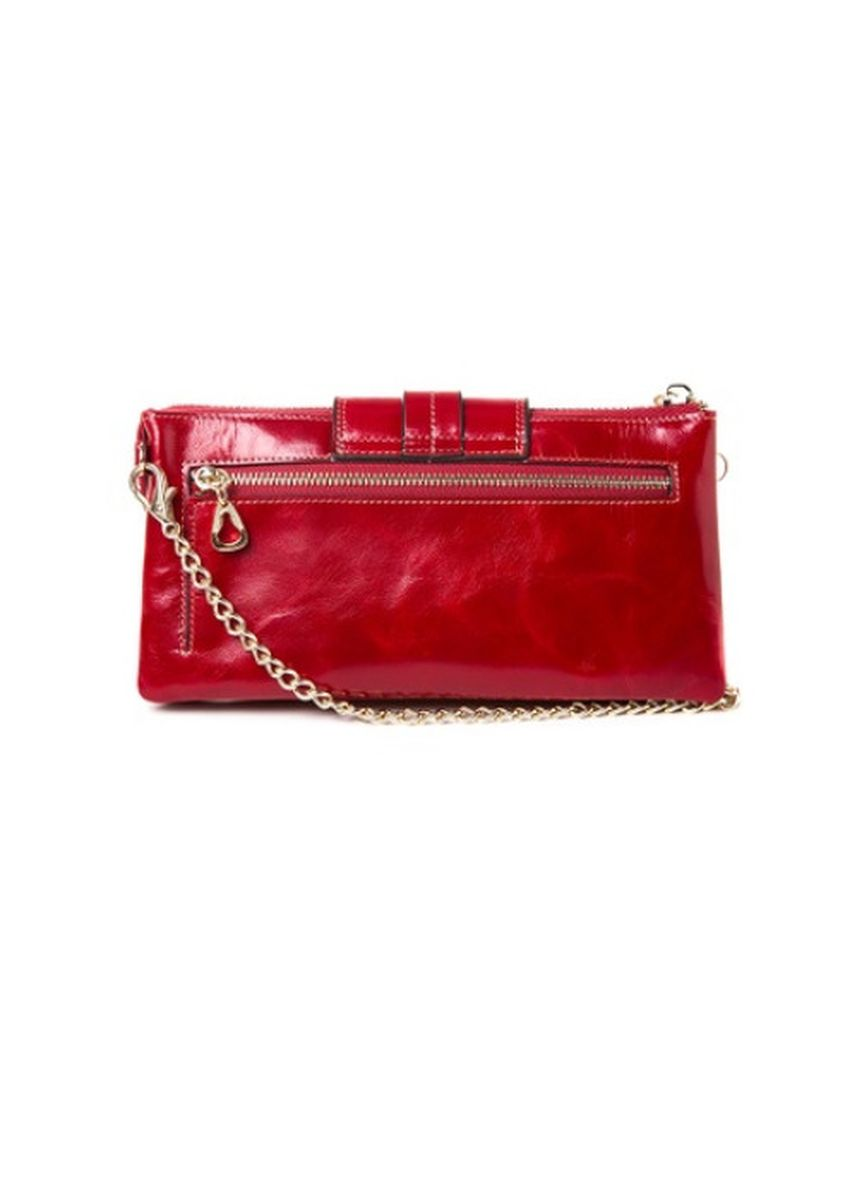 Red color Wallets and Clutches . McJim Clutch Leather Wallet With Detached Sling -