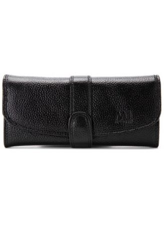 Black color Wallets and Clutches . McJim Tab-cluch Leather Long Wallet With Quad Compartment -