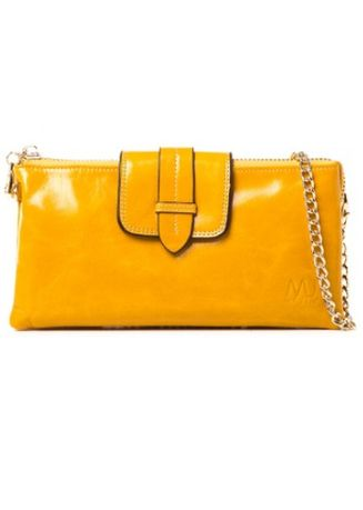 Yellow color Wallets and Clutches . McJim Clutch Leather Wallet With Detached Sling -