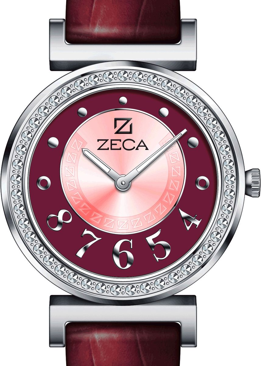 Red color Analog . Zeca Watches - Ladies - 145L.LRE.P.S7 -