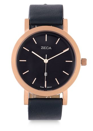 Blue color Analog . Zeca Watches - Ladies - 3009L.LBE.D3.RG4 -