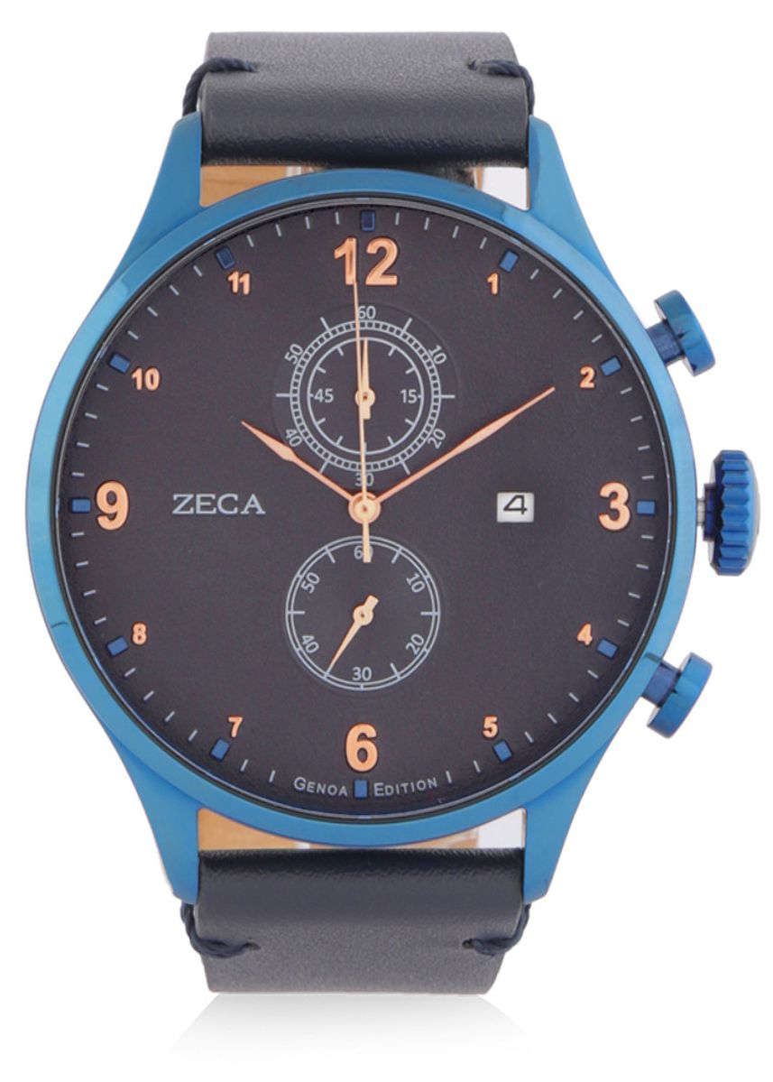 Blue color Analog . Zeca Watches - Man - 2017M.LBE.C.BE3 -