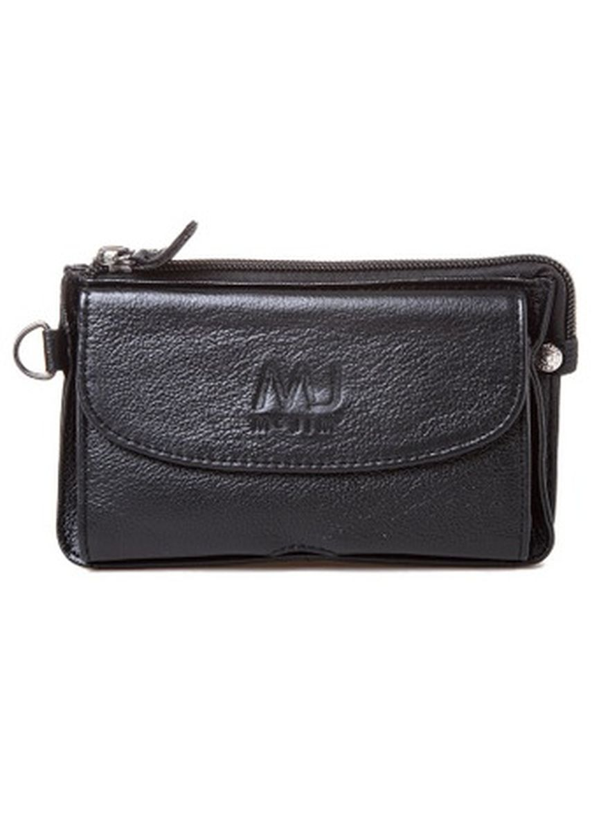 Black color Wallets and Clutches . McJim Stylish Leather Belt Bag -