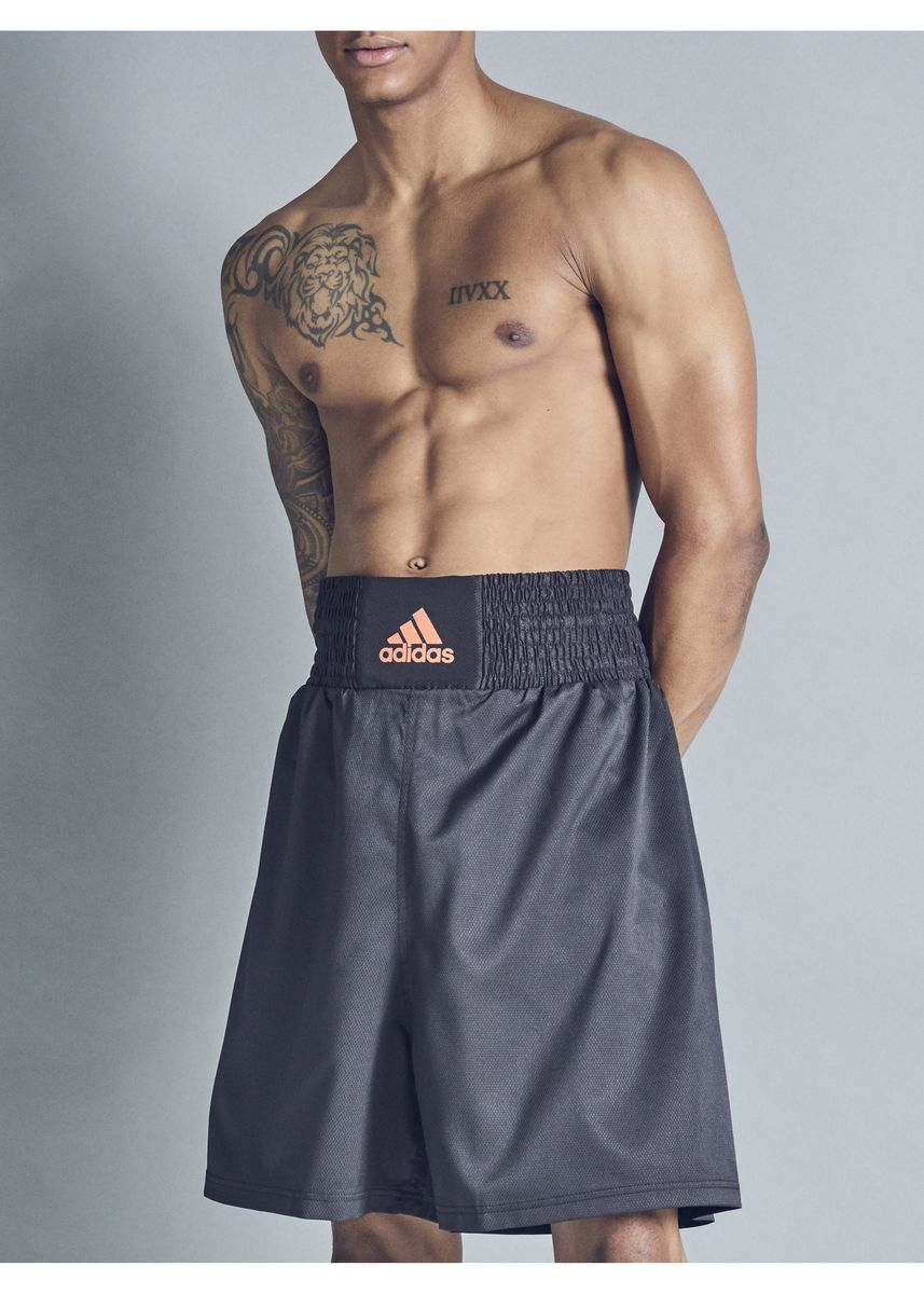 Orange color Shorts & 3/4ths . Adidas ACS Multi Boxing Orange Logo Shorts -
