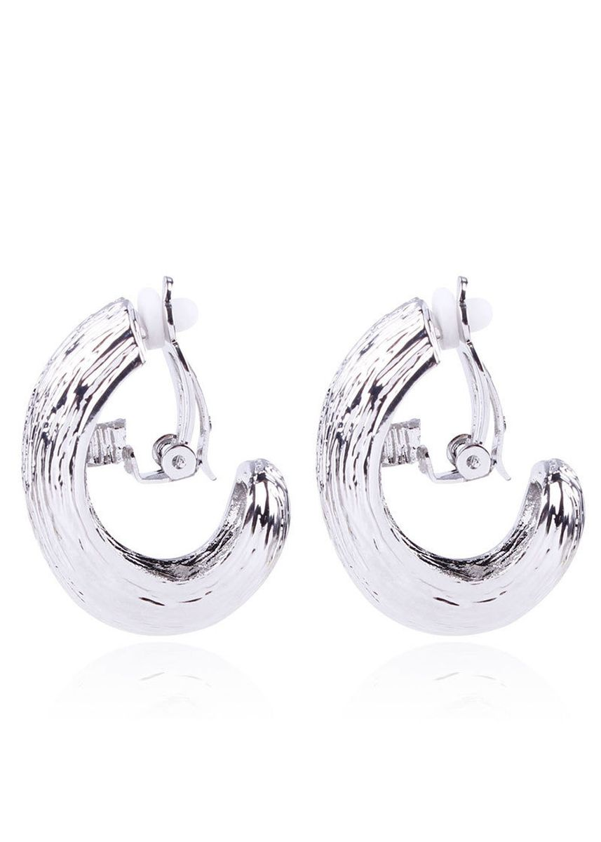 เงิน color  . MISSYJO New Modern Luxury Spiral Design Earrings -