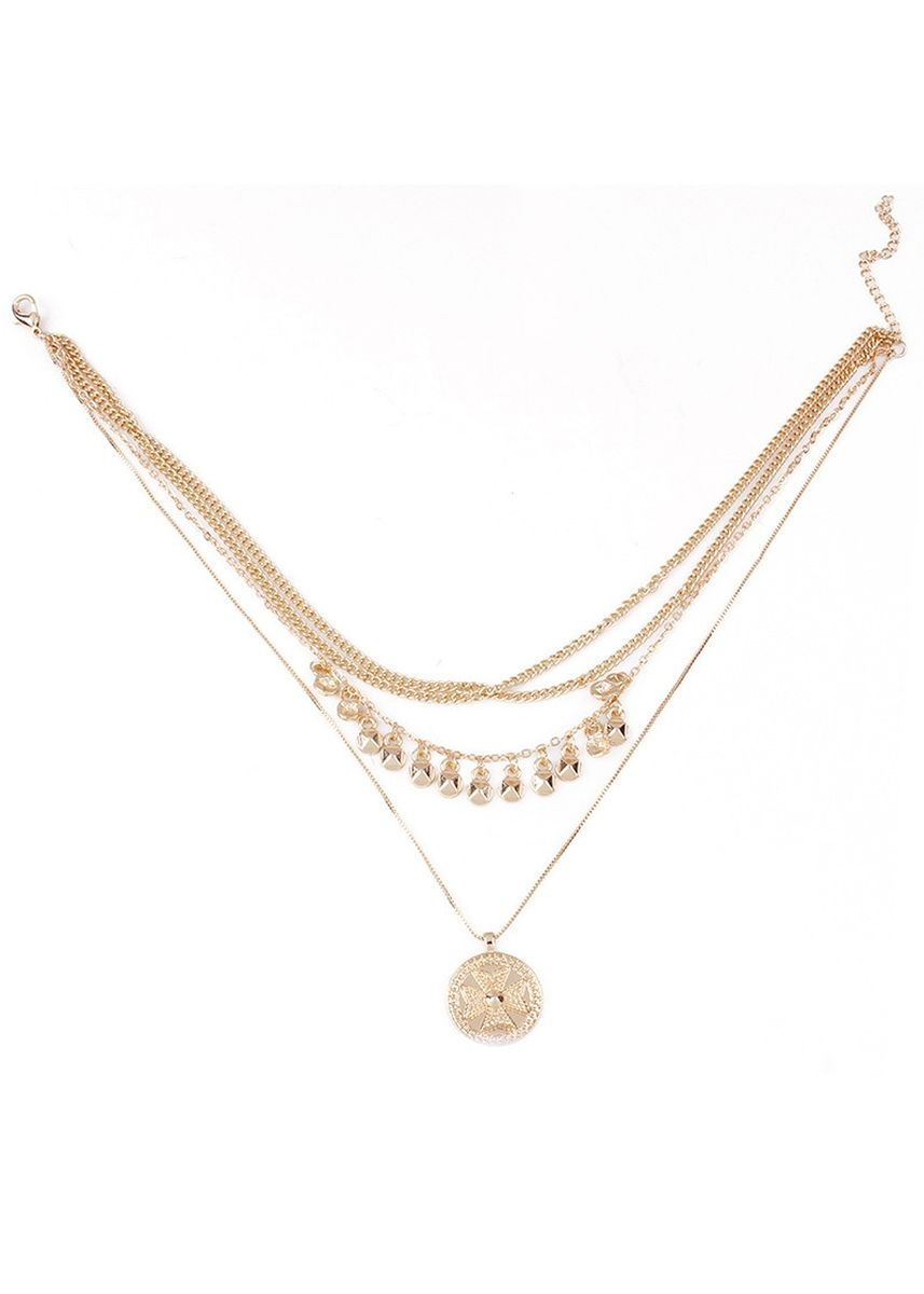 ทอง color  . MISSYJO New Design Necklace Simple Luxury Vintage Egyptian Style -