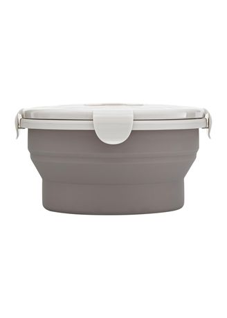 Grey color Kitchen . Jordan & Judy Collapsible Silicone Food Container-L 660ml -
