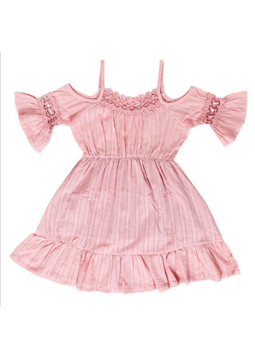 Pink color Dresses . Korean version of the children's sling princess dress -