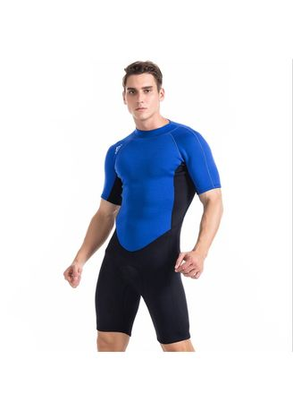 06c622cc73112 One piece short sleeve snorkeling suit 2mm neoprene tight elasticity  wetsuit surf clothing suit